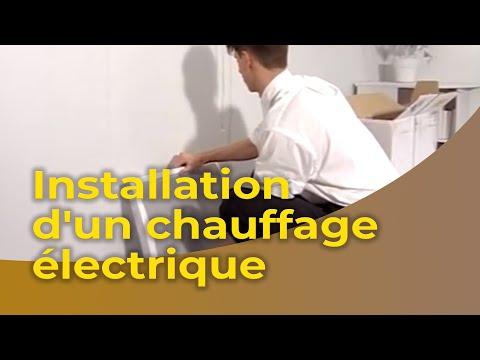 L 39 installation d 39 un chauffage lectrique youtube - Installation radiateur electrique ...