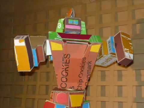 carton robot youtube. Black Bedroom Furniture Sets. Home Design Ideas
