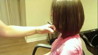 """Jennifer Aniston's 2011 Haircut Inspired"" Medium Length, Graduated, Layered Bob: Hair Tutorial"