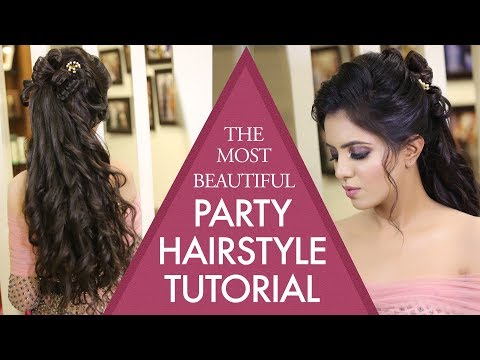 Beautiful Party Hairstyle Tutorial | Step By Step Hair Updos | Sagan Hairstyles | Krushhh By Konica thumbnail