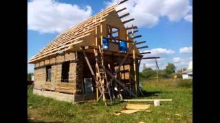 видео Дом из сруба с фронтоном 8,5 на 8, проект.