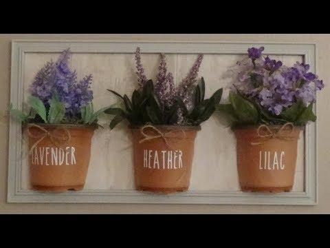 Dollar Tree DIY Farmhouse Flower Pot Wall Hanging Decor