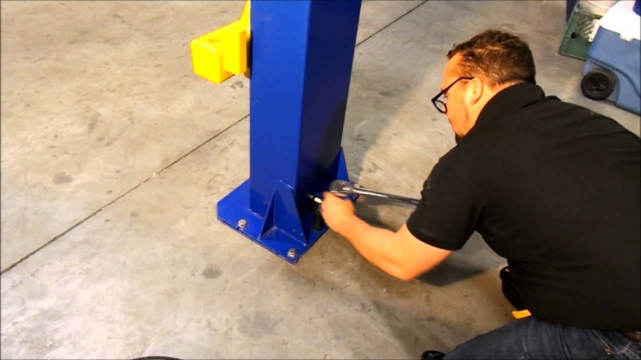 Globe Portable Auto Lift : How to install a portable post car lift