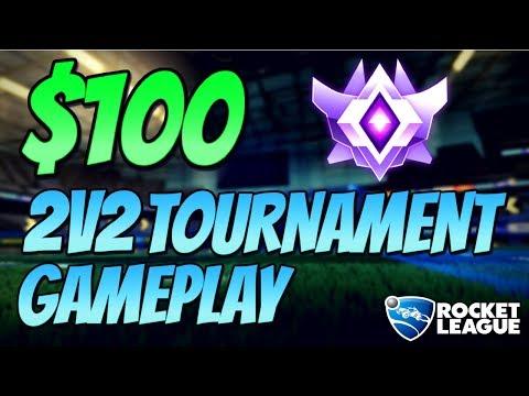 Rocket League Gameplay - $100 2V2 TOURNAMENT! (Grand Champion)
