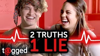 2 Truths 1 Lie w/ Jc Caylen and Claudia Sulewski | t@gged on go90