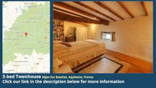 3-bed Townhouse for Sale in Abjat Sur Bandiat, Aquitaine, France on frenchlife.biz