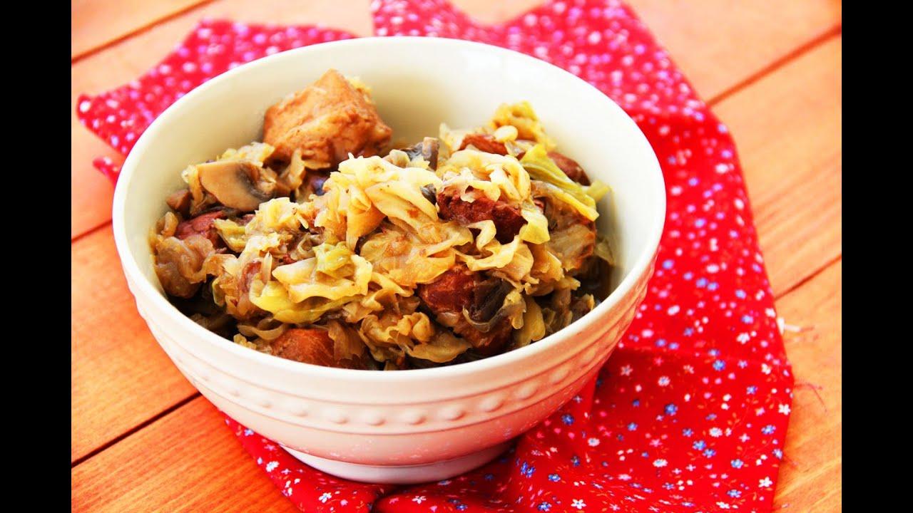польское блюдо из капусты с мясом