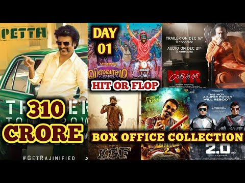 Box Office Collection Of Petta,Viswasam,NTR Kathanayakudu,KGF,Maari 2 & 2.0 | 10 Jan 2019