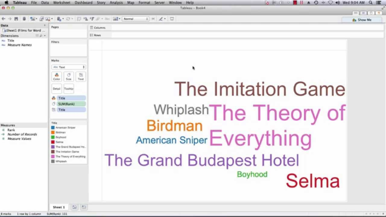 Tableau training create a tableau word cloud youtube gumiabroncs Gallery