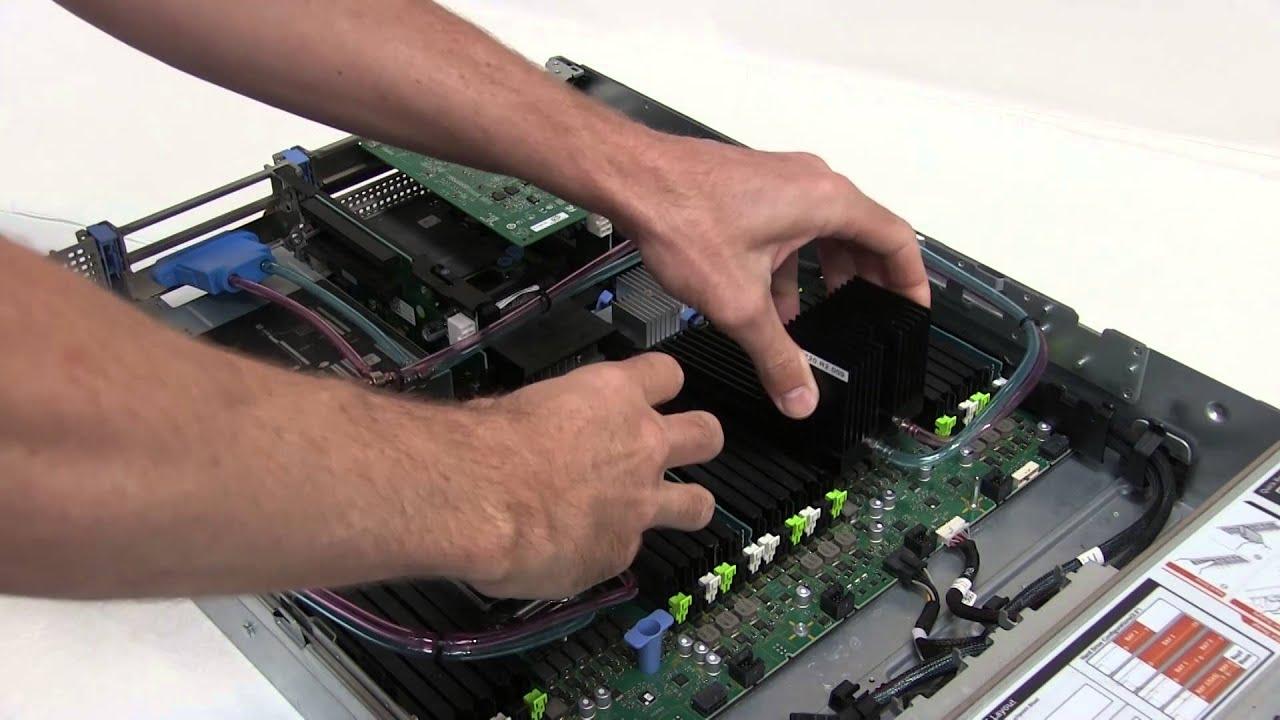 Chilldyne liquid cooling retrofit of a Dell PowerEdge R720 / R730 server