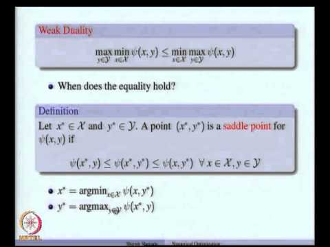Mod-08 Lec-27 Weak and Strong Duality