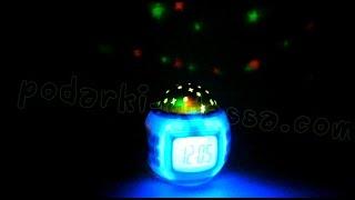 видео Часы-музыкальный проектор звездного неба