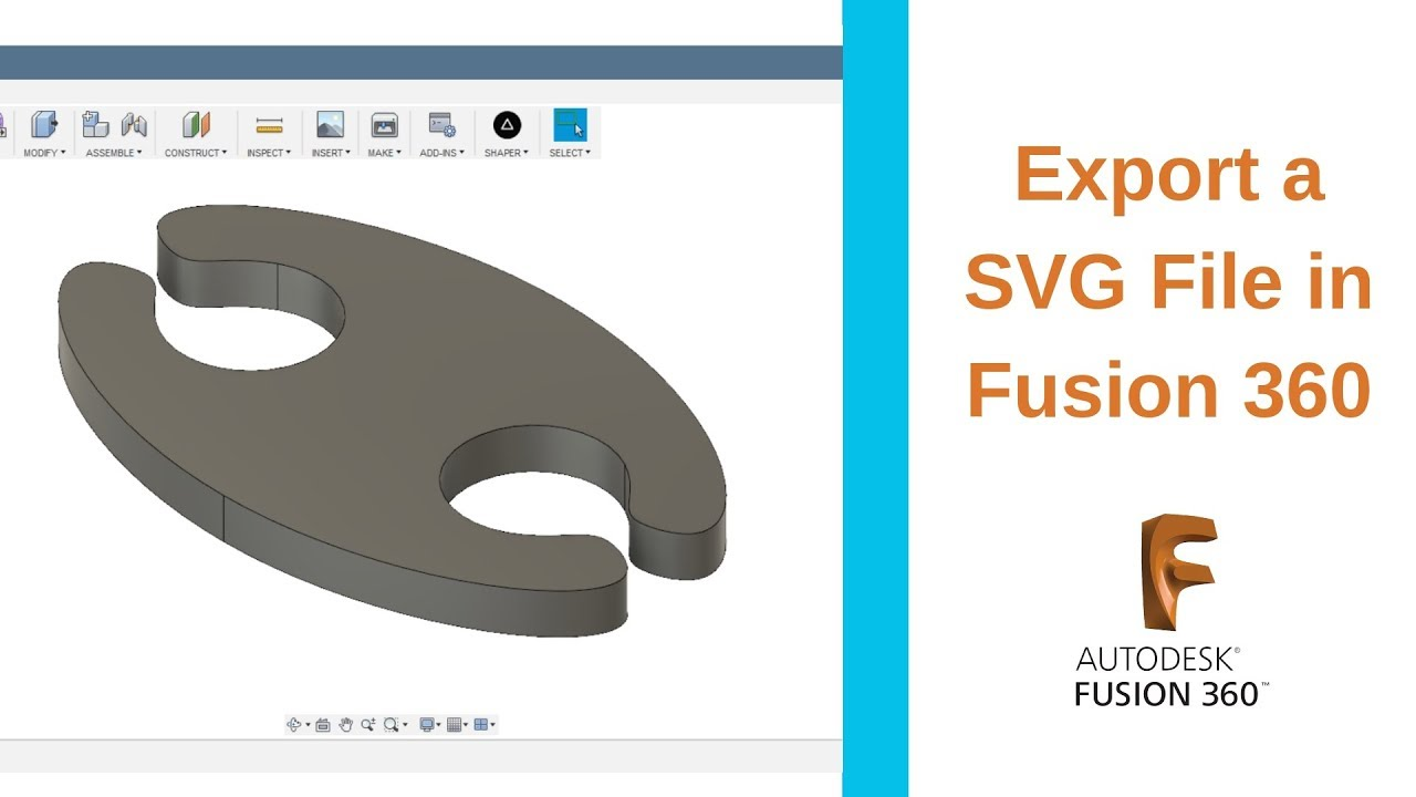 Export an SVG File in Fusion 360