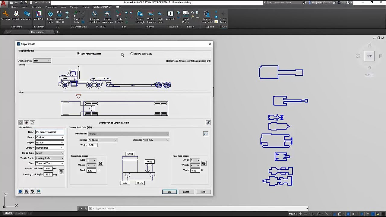 Custom Vehicle Creation for Swept Path Analysis | Transoft