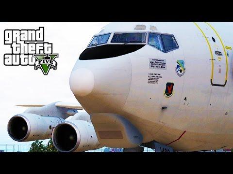 GTA 5 SP #28 - Boeing E3 Sentry AWACS Mod