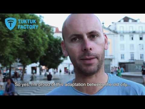 Electric tuktuks in lisbon