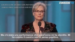 Meryl Streep attacca Trump ai Golden Globe 2017