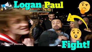 Logan Paul & George Janko get in fight on red carpet of FIST FIGHT!!!!!