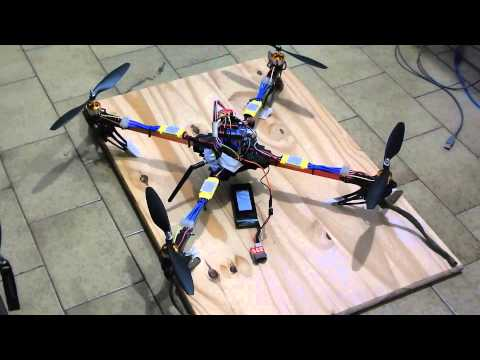 Tango DRN - Arduino controlled drone - First fly part 1