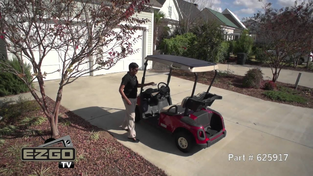 E-Z-GO Golf Cart Solar Panel Top - YouTube