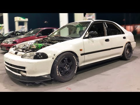 Turbo Honda's and BMW Pick on GTR!
