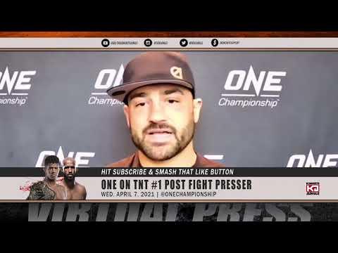 Eddie Alvarez moments after controversial DQ post fight presser