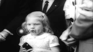 Video President John F Kennedy greets astronaut Walter Marty Schirra Junior and his fam...HD Stock Footage download MP3, 3GP, MP4, WEBM, AVI, FLV November 2017