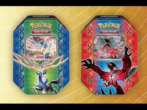 Opening Pokemon XY Xerneas EX Tin!!SECRET RARE!!!!FREE ...