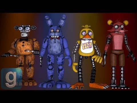 Gmod FNAF | Rebuilding The Withered Animatronics With Spare Parts