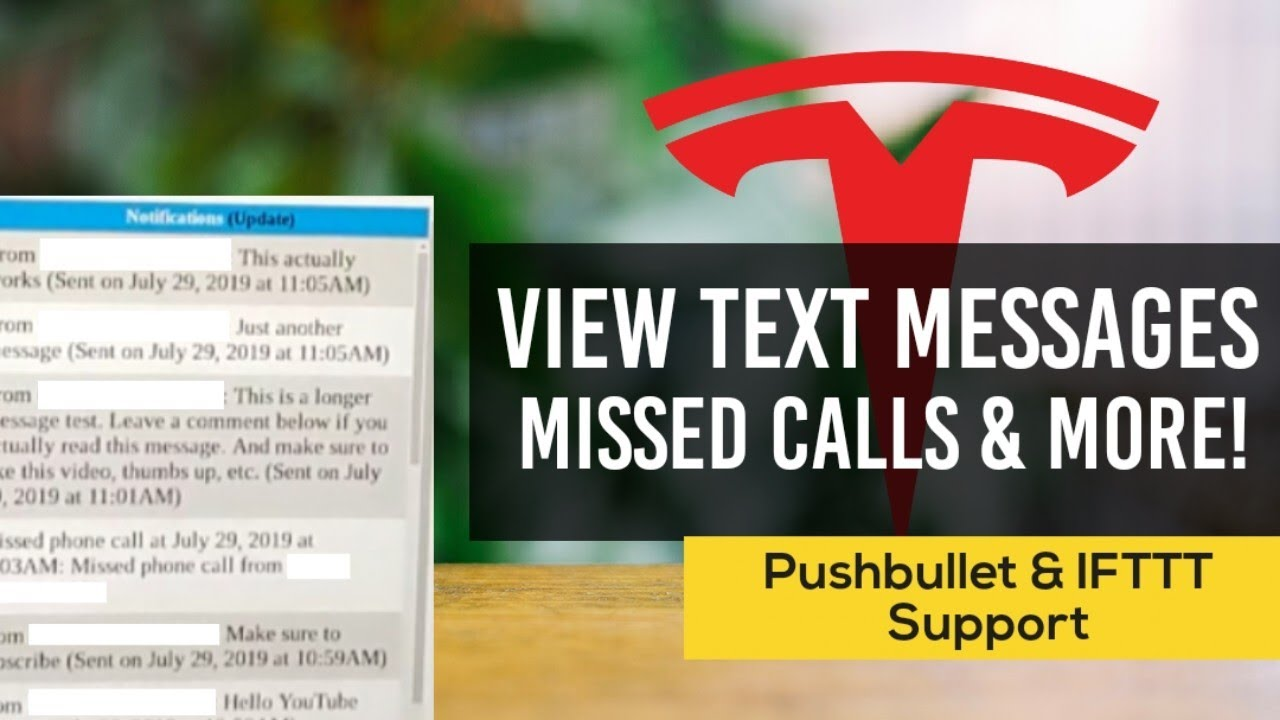 View Texts, Missed Calls on your Tesla: Pushbullet & IFTTT Notification  Setup Guide | Tesla Web App