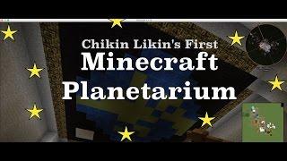 Quick View Inside My First Minecraft Planetarium