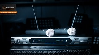 power dynamics pd722h 2 channel uhf wireless microphone system with 2 microphones 179 140