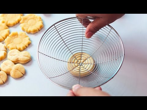 Egg cookies cake in 5 designs without mold | Dimer biscuit pitha | How to make dimer pitha