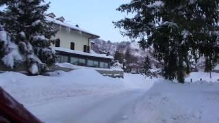 Door de sneeuw van Perticara naar Novafeltria.