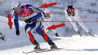 Урок физкультуры на лыжне и в бассейне.