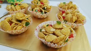 HONEY CORNFLAX CUP A VERYHEALTHY AND CRUNCHY SNACK FOR KIDS BY KITCHEN WITH FATIMA