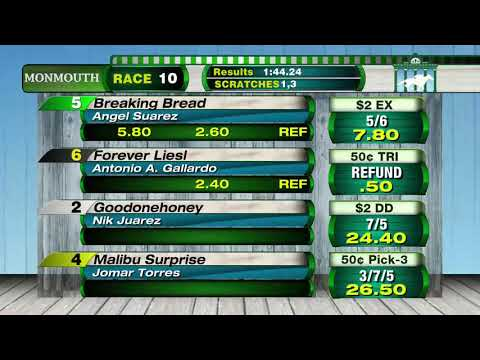 video thumbnail for MONMOUTH PARK 5-11-19 RACE 10 – SERENAS SONG