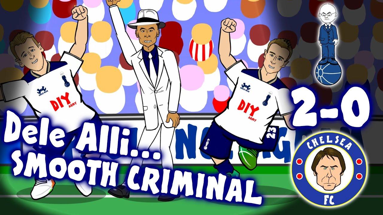 Download DELE ALLI SCORES TWO! Smooth Criminal ... TOTTENHAM vs CHELSEA 2-0 (Parody Goals Highlights 2017)