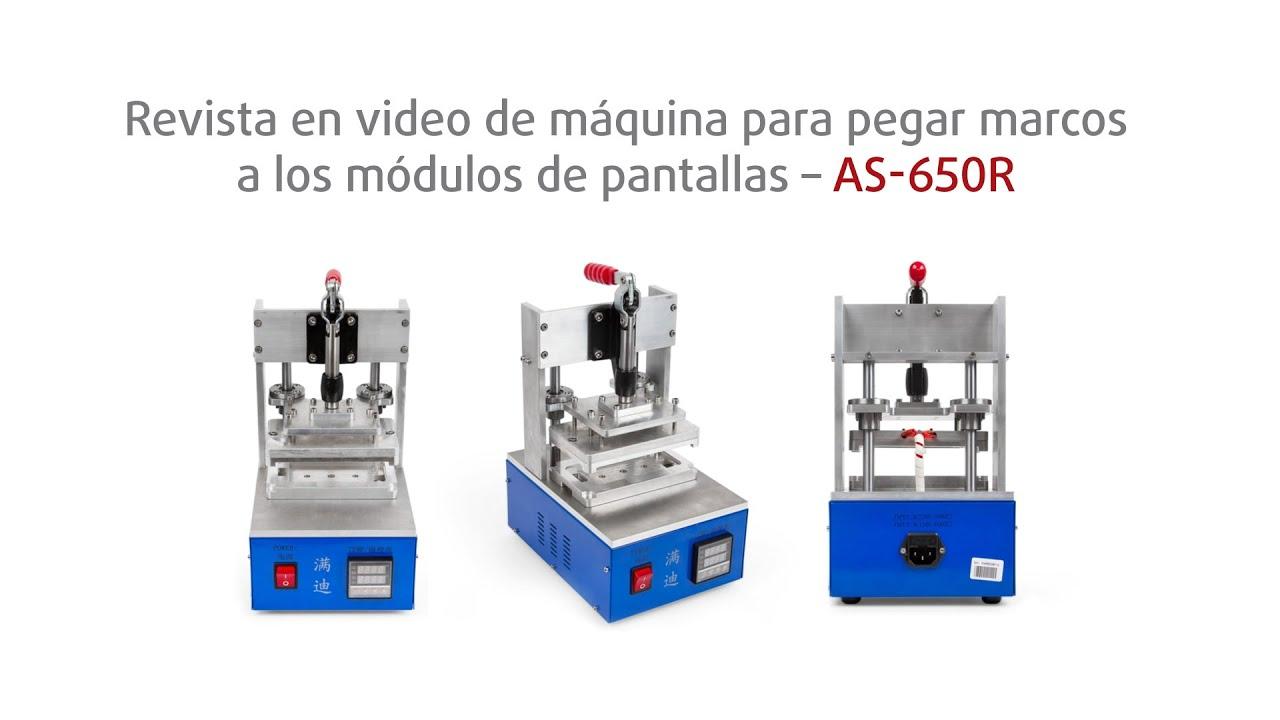 Revista en video de una máquina para pegar marcos a los módulos de ...
