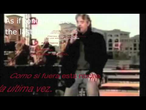 Andrea Bocelli Besame mucho with lyrics and English translation