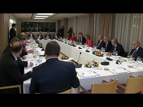 EU ministers meet to discuss Trump