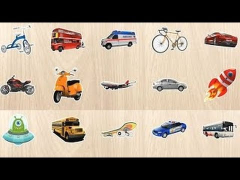 Learn Car Vehicles names and sounds for Kids Children Toddlers Baby with Funny Puzzle