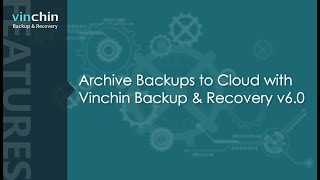 Archive Backups to Cloud with Vinchin Backup & Recovery