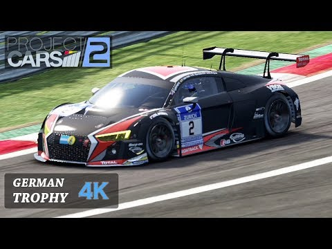 Project Cars 2 [4K] Onboard Fia GT3 German Trophy - Audi R8 - All Stages [Career Mode]