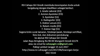 Job Vacancy 2017
