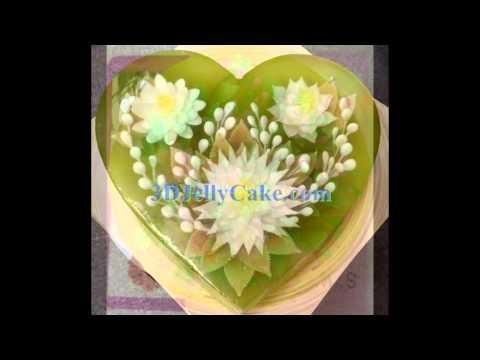Cake Art Quito : Gelatina Artistica Gelatin Art Jello with 3D Flower - YouTube