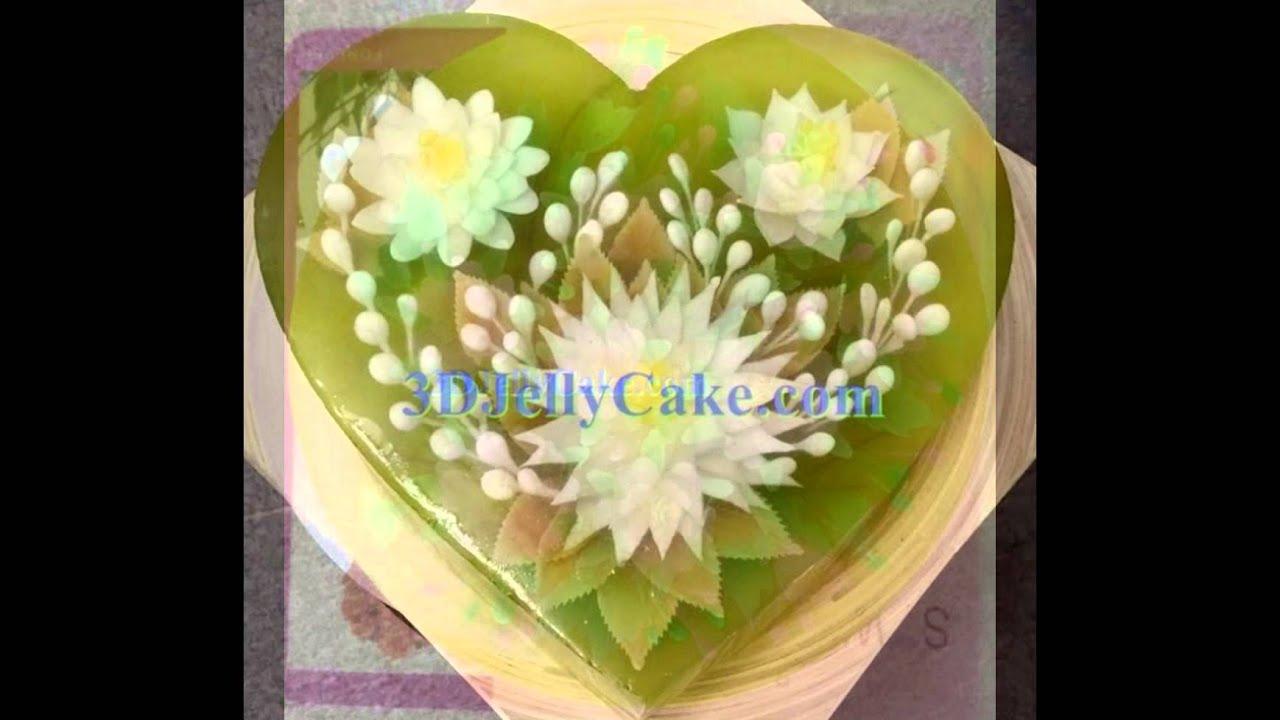 Gelatina Artistica Gelatin Art Jello With 3d Flower Youtube