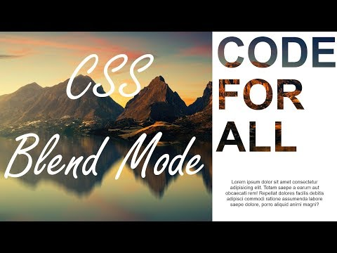 CSS Blend Modes  - How to create Transparent Text Model HTML and CSS || WEB CODIAN thumbnail