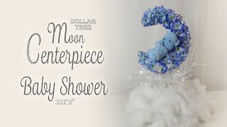 Dollar Tree Moon Centerpiece / Baby Shower Decor /  Party Decor