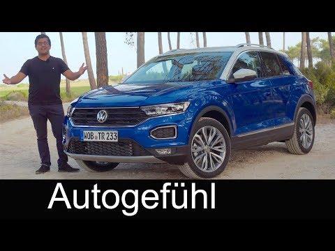 Volkswagen T-Roc FULL REVIEW test driven VW T Roc all-new neu SUV - Autogefühl